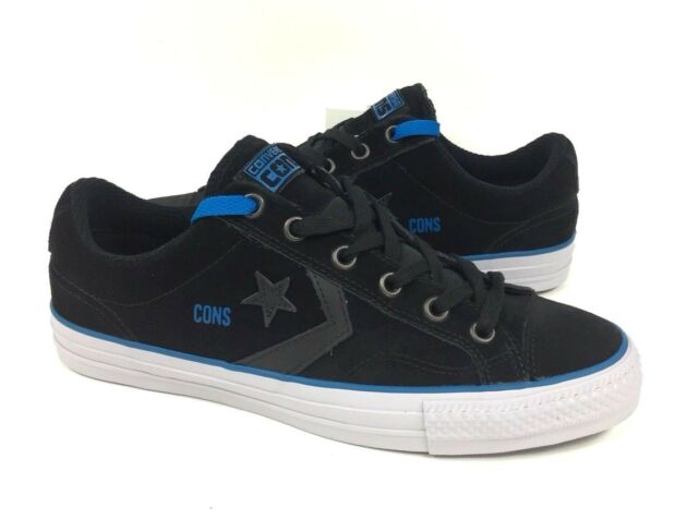 43e866e207f1d7 Converse CONS Star Player Pro Mens Size 10.5 Skate Shoes Sneakers Black Blue  NEW