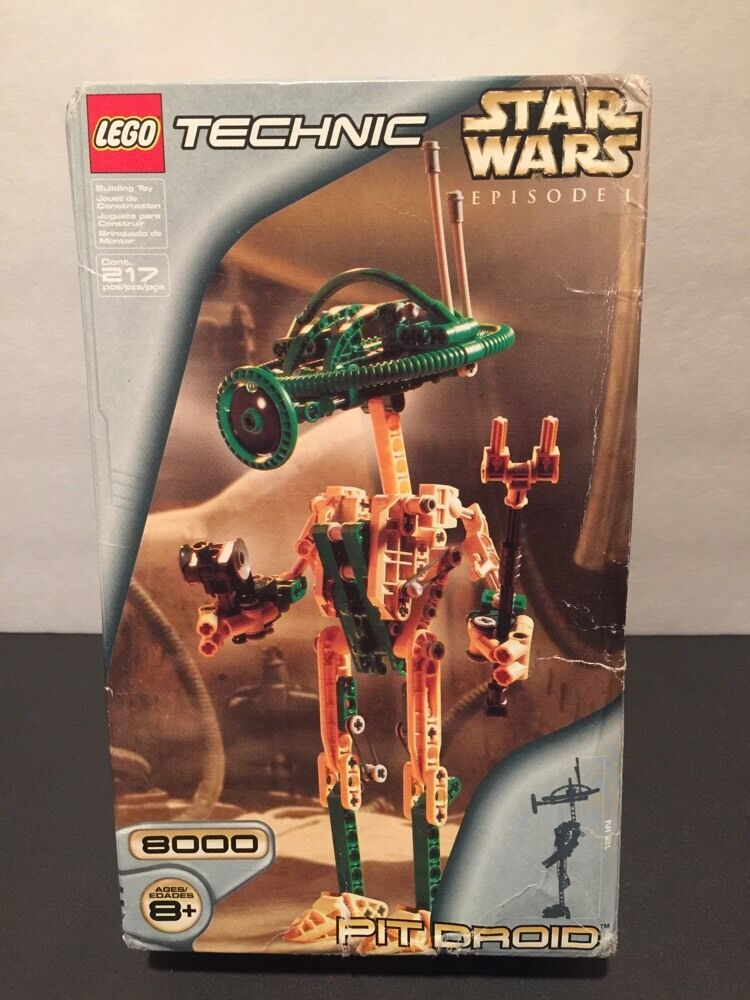 Lego Technic Star Wars 8000 Pit Droid Factory Sealed Bags 100% Complete  BOX