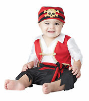 Boys Pirate Captain Jack Caribbean Fantasy First Mate Dress Up Infant Costume