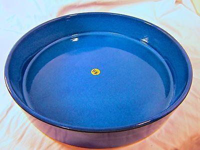 Vintage Ikebana Ceramic Vase Japan Import Round Suiban Cobalt Blue Handmade