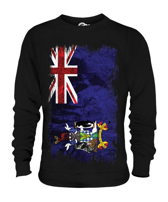 SOUTH GEORGIA GRUNGE GRUNGE GRUNGE FLAG UNISEX SWEATER TOP GIFT SHIRT CLOTHING JERSEY  | Erste in seiner Klasse  | Elegantes Aussehen  | Ermäßigung  a67029