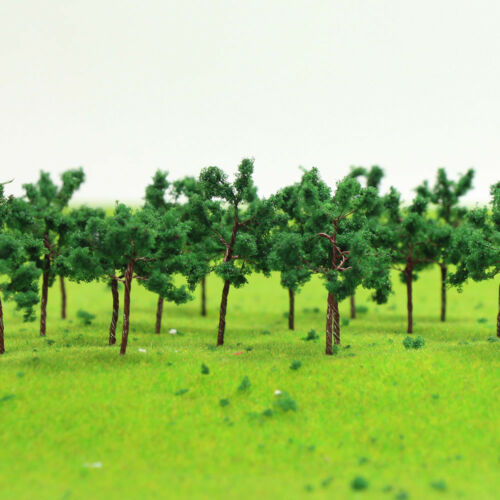 100pcs Model Train Layout Iron Wire N TT Model Trees 35mm Railroad Scenery D3517