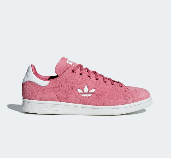 huge discount ea6f9 b33ab Adidas Suede Stan Smith Sneakers Shoes Pink B37895 Size 4-12