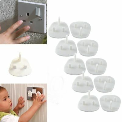 10x Plug Socket Covers Children/'s Safety Protector for UK 3 pin