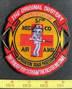 US Military 57th Medical Company Charlie Team Air Ambulance Embroidered Patch
