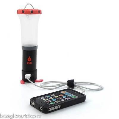 NEW UCO Arka USB Charger LED Lantern Flashlight Red