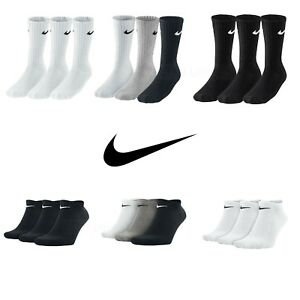 Nike-Socks-3-Pairs-Mens-Womens-Crew-Ankle-Liner-Cotton-Sports-Socks-Size-UK-2-14