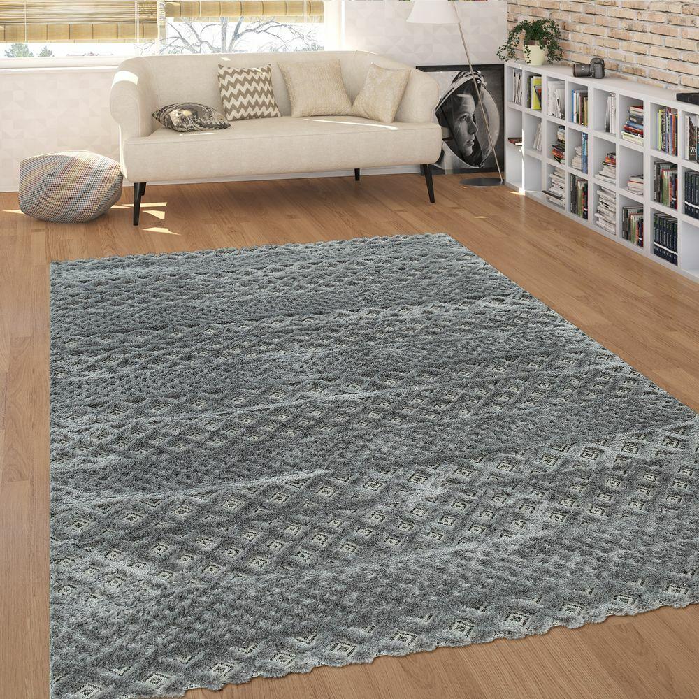 Moderno tappeto a pelo corto per il soggiorno in effetto 3D dalla struttura alto