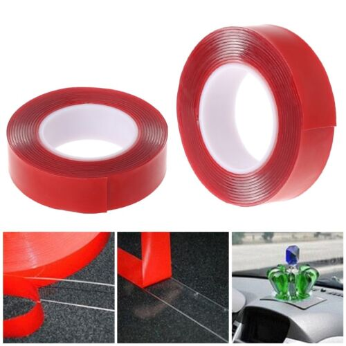 10M Red Double Sided Adhesive Tape High Strength Acrylic Gel Transparent Car Fix