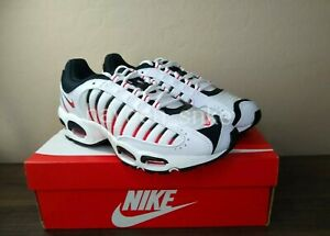 Nike-Air-Max-Tailwind-4-White-Black-Red-Shoes-Men-039-s-Sizes-8-13-NEW-AQ2567-104