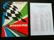 Programma Gran Premio d'Italia F 1 Autodromo Monza 1968 Ferrari rare advertise