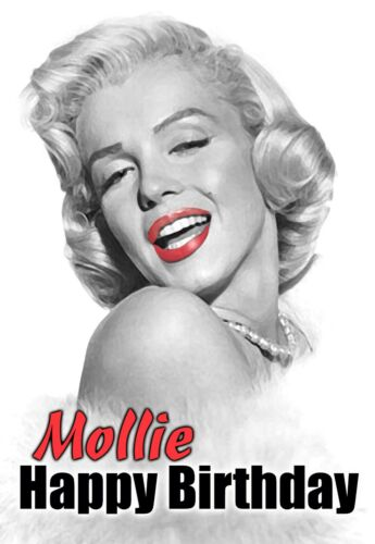 Marilyn Monroe Happy Birthday Mr President Personalised Greeting Fun Art Card Home Garden Greeting Cards Party Supply