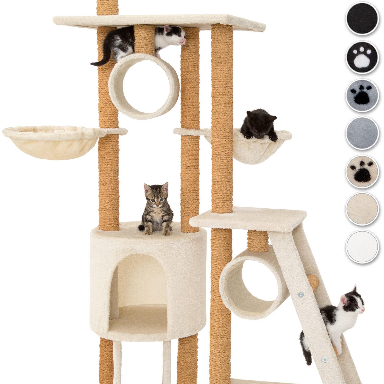 XXL Tiragraffi per gatti gatto gatto gatto albero graffiatoio altezza del soffitto nero nuov d2e3db
