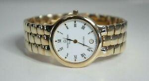 Michel-Herbelin-Paris-Baccara-Watch18k-Gold-Plated-Bracelet-Date-Womens-Watch