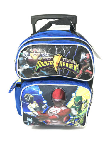 """Authentic Brand New. Power Rangers 12/"""" Toddler Roller Backpack Trolley"""