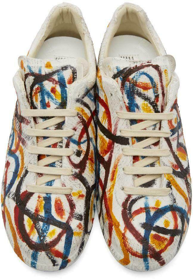 Maison Martin Margiela Replica Paint trainers Snearkers Shoes UK7/ IT41 /US8 New