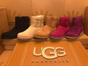 3688a0acdbf Details about New Womens UGG Kristin Sheepskin Ankle Suede Wedge Treadlite  Boot 1012497 Winter