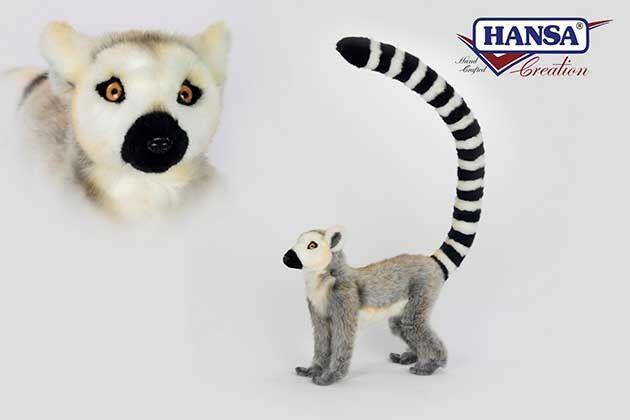Hansa Toy 6854 Lemur stehend 48 cm Kuscheltier Stofftier Plüschtier