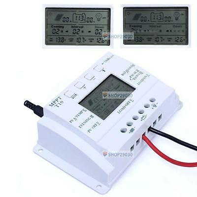 LCD 10A 12V/24V Auto MPPT Solar Panel Regulator Three-time Charge Controller SP
