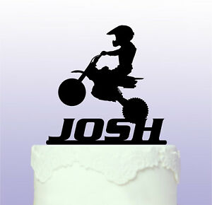 Image Is Loading Personalised Kids Bike Cake Topper Motorbike