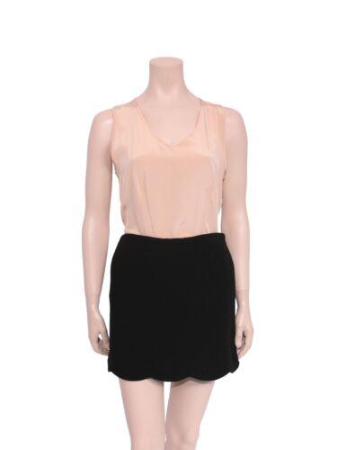 VALENTINO Black Scalloped Mini Skirt (SIZE 42)