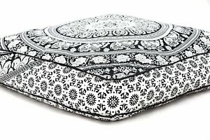 Large-Extra-Large-Square-Mandala-Floor-Cushion-Pillow-Cover-Indian-Ottoman-Pouf