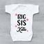 Personalised Big Sis Stars Baby Grow Bodysuit Vest Newborn Sister Baby Shower