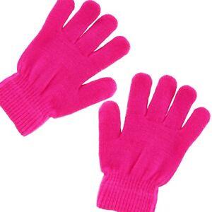 Pink Childrens//Kids Winter Magic Gloves One Size
