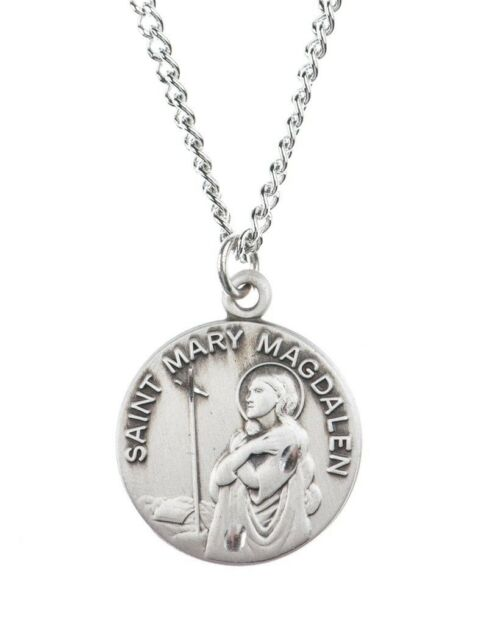Pewter saint st mary magdalen dime size medal pendant 34 inch ebay pewter saint st mary magdalen dime size medal pendant 34 inch mozeypictures Images