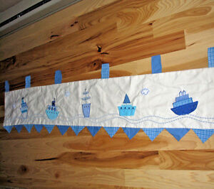 Details About Kidsline Sail Away Sailboat Boat Ship Nautical Baby Nursery Decor Valance