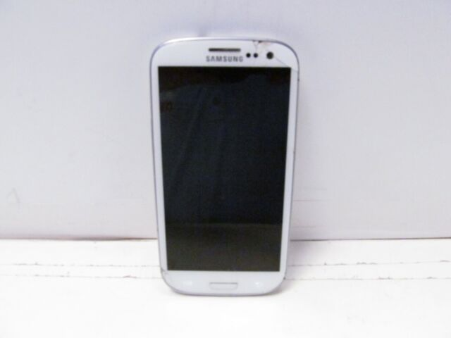 Samsung Galaxy S3 SCH -I535 16GB WHITE (VERIZON) Cracked LCD and Screen BAD ESN