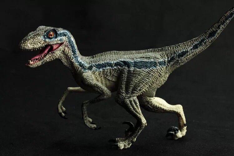 Jurassic World Dinosaurio Raptor caído Reino figura de acción Azul