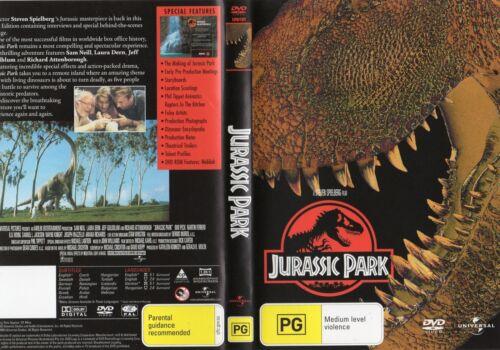 1 of 1 - JURASSIC PARK - Sam Neil, Laura Dern & Jeff Goldblum - DVD - NEW - R 2 & 4 PAL