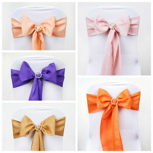 75 Polyester Chair Sashes Bows Ties Wedding Party Reception Decorations Sale Ebay