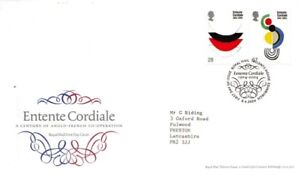 6 Avril 2004 Entente Cordiale Royal Mail First Day Cover Bureau Shs-afficher Le Titre D'origine Couleur Rapide