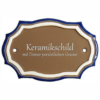 ZuverläSsig Keramik Schild 12,0 X 8,0 Cm Mit Gravur Blanko Türschild Tue063 Eine GroßE Auswahl An Farben Und Designs