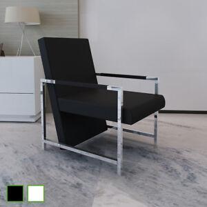 Fauteuil Magnifique Avec Pieds Chromes Chaise Moderne Design