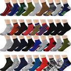 12 Pairs Men's Ankle Low Cut Socks - For Men Shoe Size 8-12 - 10+ Styles