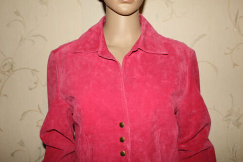 Blazer Leather En Jakke Popper lille Pink Størrelse Live Længde Hip Fitted Rose M v5wqafU
