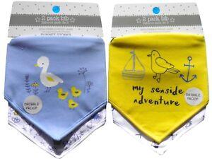 Cute-Babies-Bandana-Dribble-Bibs-Multi-Pack-Baby-Girls-Boys-Cotton-2-Pack-Gift