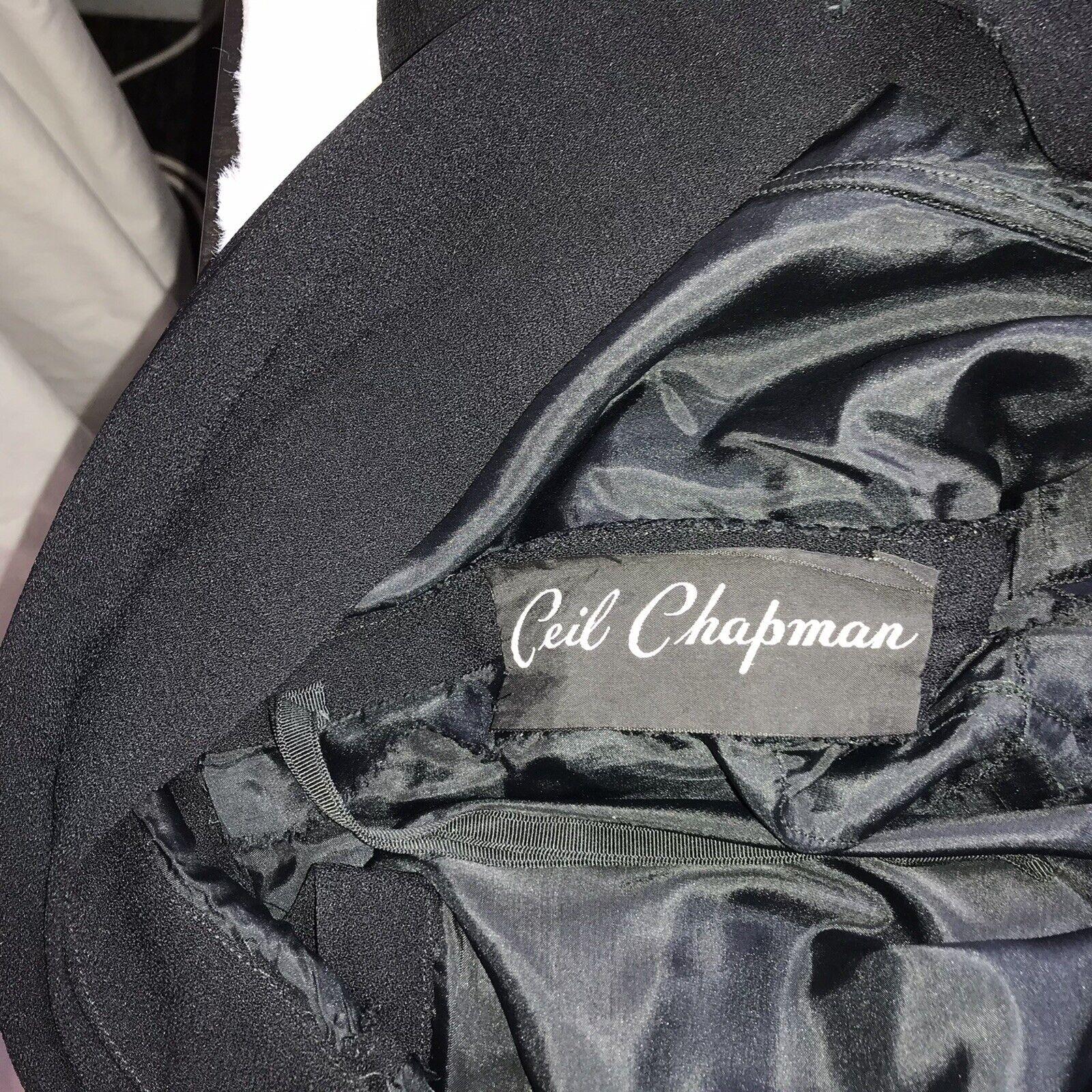 Ceil Chapman Vintage Black Dress - image 4