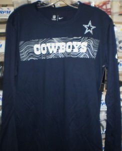 b3ab5251a6b NFL DALLAS COWBOYS NIKE DRI FIT LONG SLEEVE SIDELINE T-SHIRT NAVY L ...