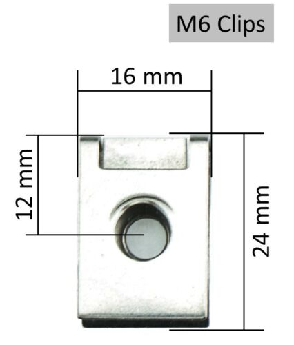 Moto Carénage Vis m6 Vis Ressort écrous 6 mm Acier Inoxydable Noir