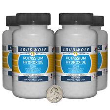Potassium Hydroxide 25 Pounds 4 Bottles 99 Pure Food Grade Fine Flakes