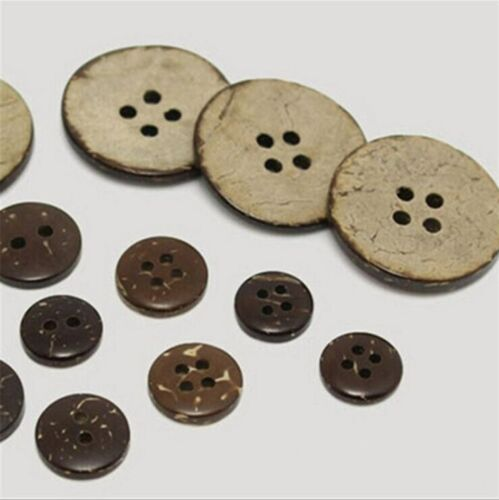 Botón De Coco redonda botón de cáscara de coco Hazlo tú mismo Accesorios Costura Scrapbooking