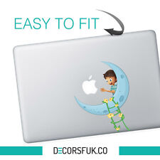Boy on the Moon macbook sticker | Laptop stickers | Macbook Decals