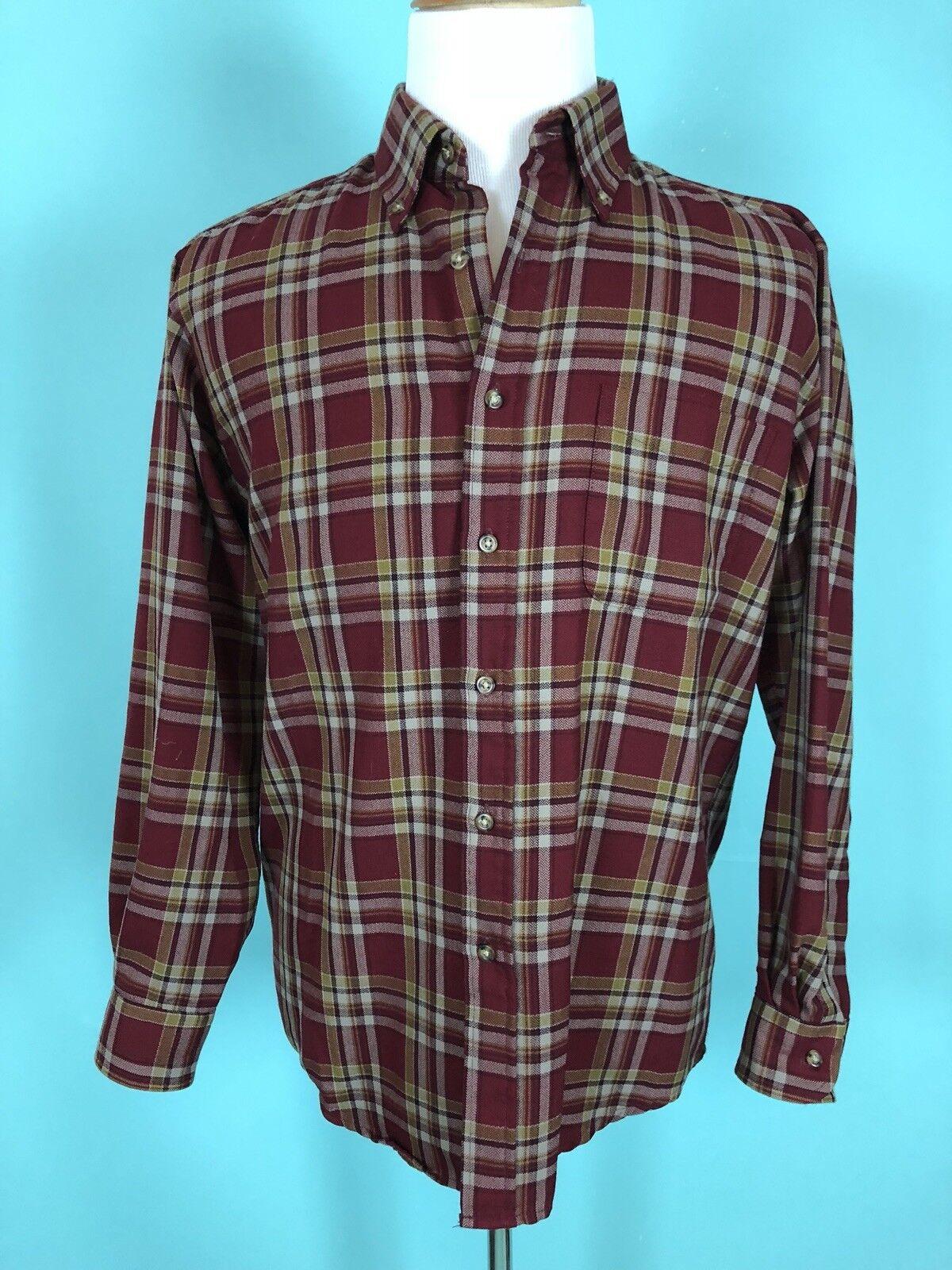Pendleton 100% Wool Plaid Button Down Shirt Size M