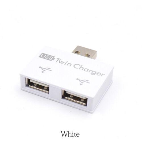 External Micro USB Power Port 2 Port USB Splitter Multi-port Adapter USB HUB