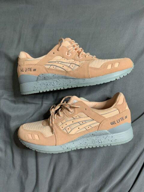 best sneakers 9033b 6cd28 ASICS GEL LYTE III 3 US Size 8.5 Bleached Apricot Grey Running Shoes H7L4L  1717