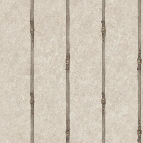 Bridle Leather Stripe on Gray Faux Wallpaper HN4534 DOUBLE ROLL